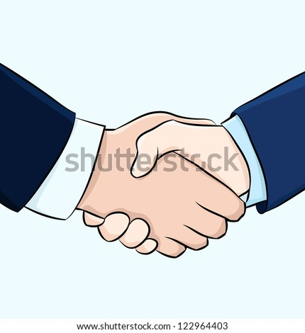 Hand shake, business  illustration, eps 10 - stock vector