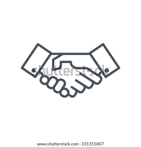 Hand shake icon suitable for info graphics, websites and print media. Colorful vector, flat icon, clip art. - stock vector
