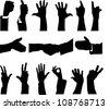 Hand silhouette - stock vector
