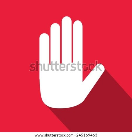 Hand stop icon - stock vector