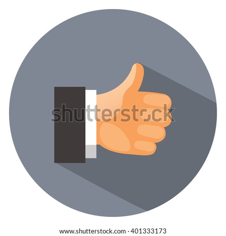 hand thumbs up - like - yes icon, ok - stock vector