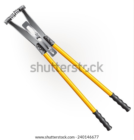 Hand tools series. Nippers, isolated on a white background. Vector illustration - stock vector