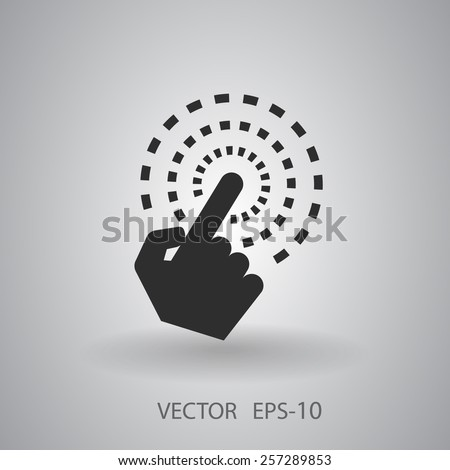 Hand Touch icon, vector illustration - stock vector