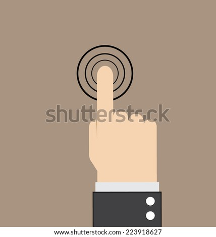 hand touch vector illustration - stock vector
