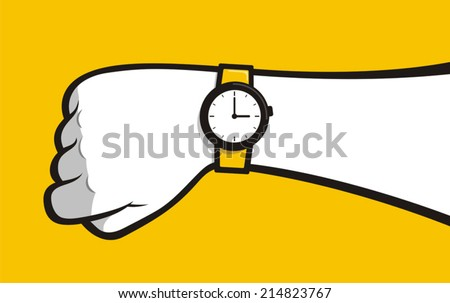 Hand watch - stock vector