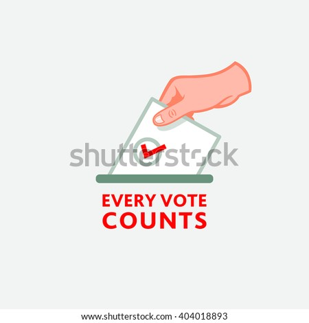 Hand with ballot as a symbol for an election campaign - stock vector