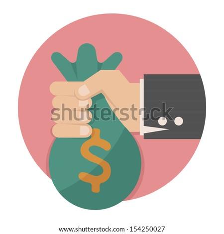 Hand with money , eps10 vector format - stock vector