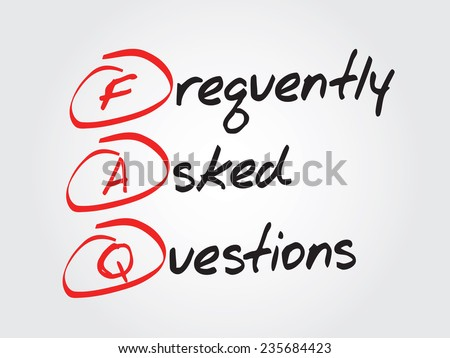 Hand writing Frequently Asked Questions (FAQ), vector concept acronym - stock vector