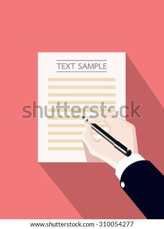 hand writing vector illustration - stock vector