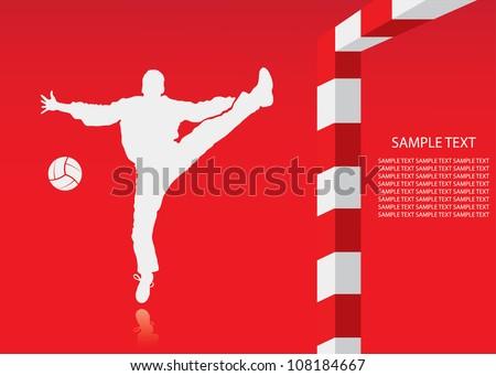 Handball background - vector illustration - stock vector