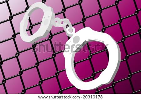 Handcuff - stock vector