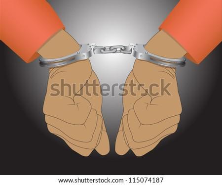 Handcuffs - stock vector
