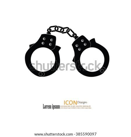 handcuffs.handcuffs icon.vector illustration. - stock vector