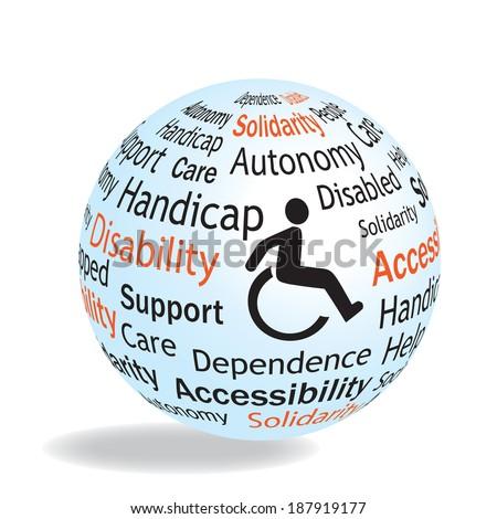 handicap - stock vector