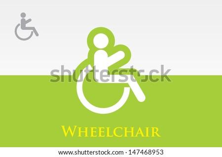 handicap or wheelchair person - stock vector