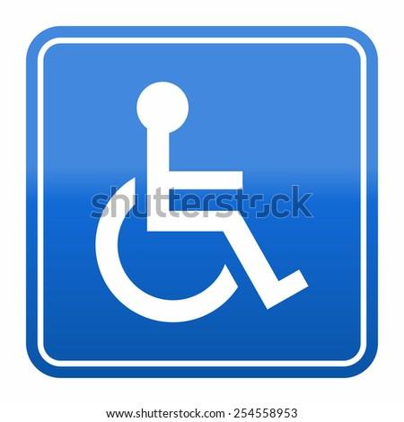 Handicap or wheelchair person icon - stock vector
