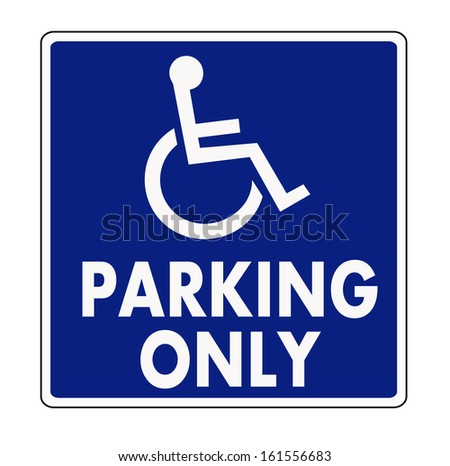 Handicapped parking sign - stock vector