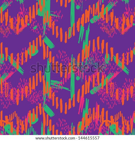 Handmade Eighties Fashion Pattern - stock vector