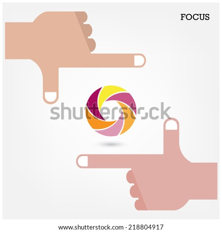 Hands and business vision concept. Vector illustration - stock vector