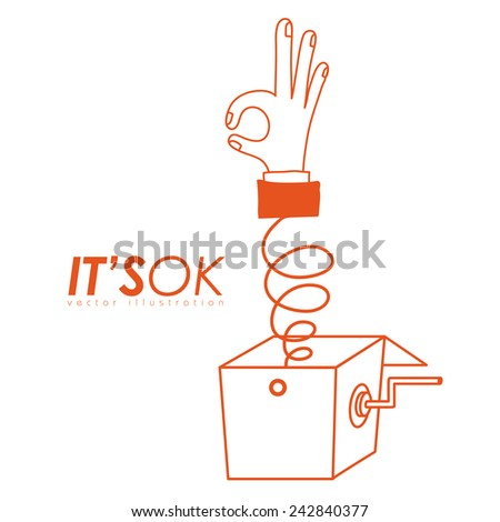 Hands design over white background, vector illustration. - stock vector