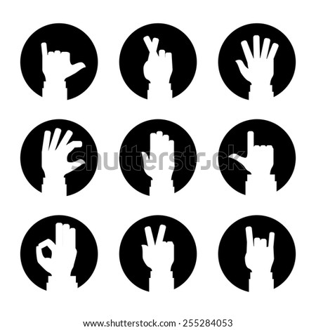 hands gesture design, vector illustration eps10 graphic  - stock vector
