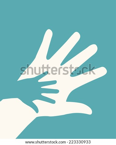 hands helping graphic design , vector illustration - stock vector