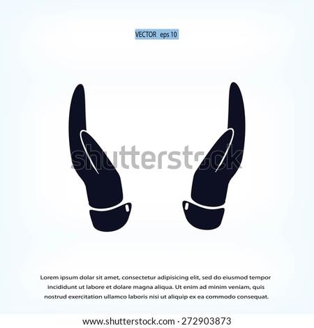 hands icon - stock vector