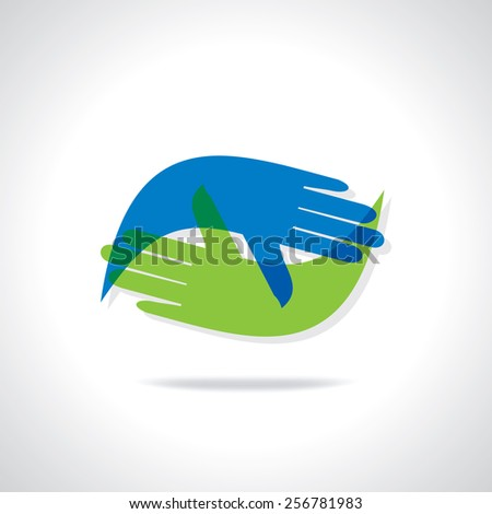 hands team work idea concept illustration - stock vector
