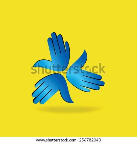 hands team work idea concept illustration - stock vector