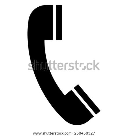 Handset icon - stock vector