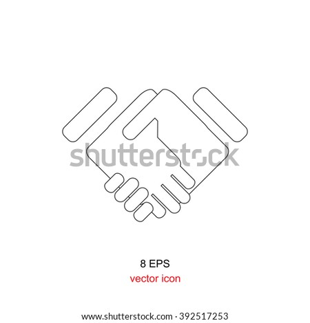 Handshake businessman agreement, symbol of a successful transaction. Partnership icon, partnership illustration, partnership EPS8, partnership vector, partnership concept,  business partnership - stock vector