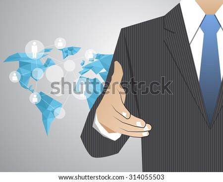 handshake Congratulatory Corporation Decision Communication - stock vector