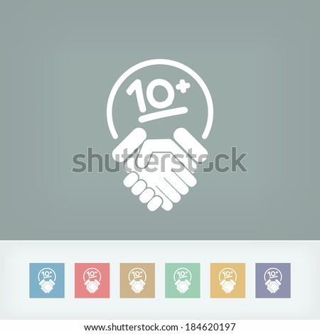 Handshake for maximum results - stock vector