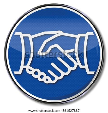 Handshake, friendship and business agreement - stock vector