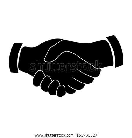 handshake icon - stock vector