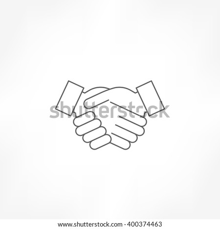 handshake icon, deal icon , agreement icon , shake hand icon - stock vector
