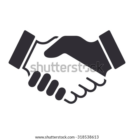Handshake icon. Partnership and agreement symbol - stock vector