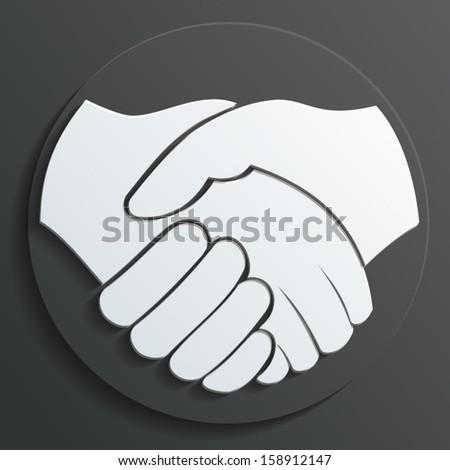 handshake icon vector - stock vector