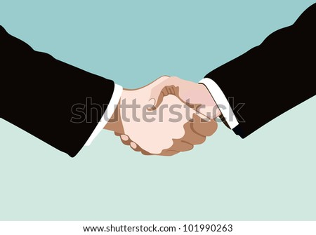 handshake isolated on business background - stock vector