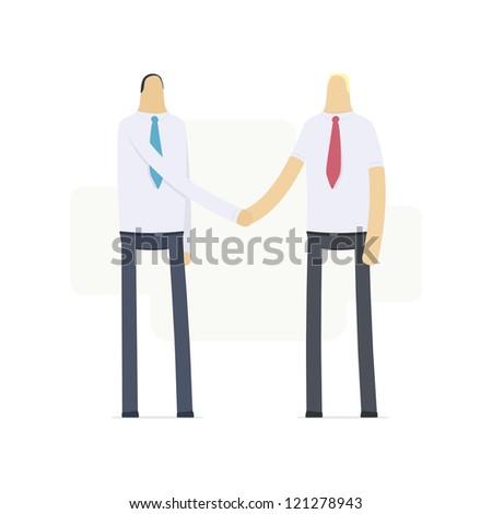handshake of two businessmen - stock vector