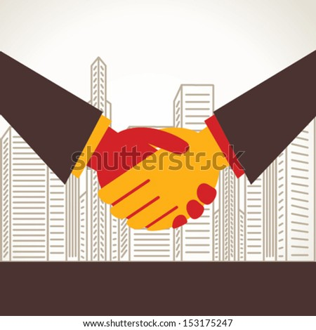 handshake or business deal concept  vector - stock vector