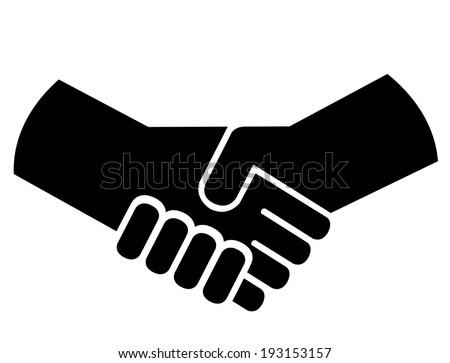 Handshake or shaking hands - stock vector