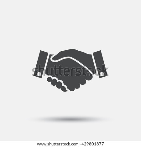 Handshake sign icon. Successful business symbol. Flat handshake web icon on white background. Vector - stock vector
