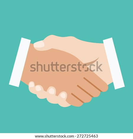 Handshake. Successful business or bargain concept. Creative vector illustration - stock vector