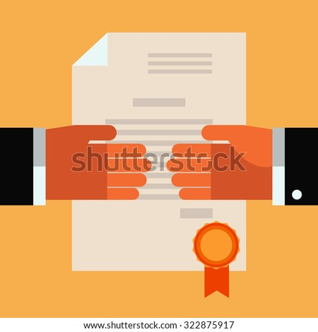 Handshake vector concept. Concept of international partnership, cooperation and teamwork in business. Flat modern design style - stock vector