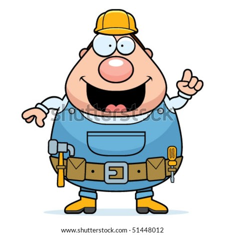 Handyman Idea - stock vector