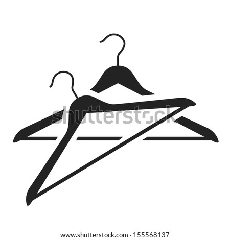 hanger black icon. vector illustration - stock vector