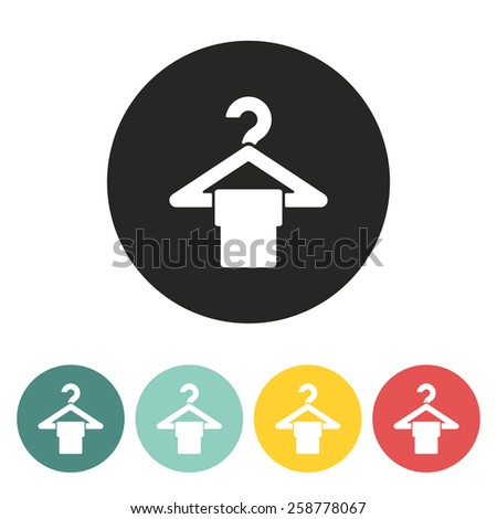 hanger icon.vector illustration. - stock vector