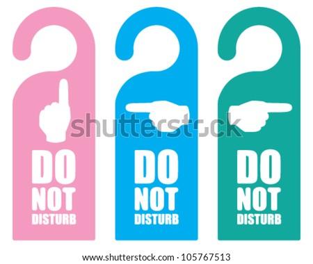 hanger sign do not disturb - stock vector