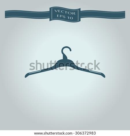 Hanger - Vector icon - stock vector